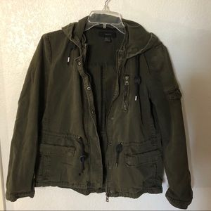 Olive Green Military Jacket with several pockets